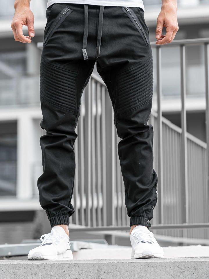 Pantaloni jogger bărbați negri Bolf 0952