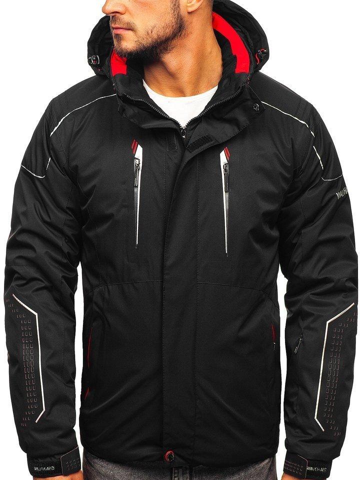 Geacă ski bărbați neagră-rosie Bolf A5624