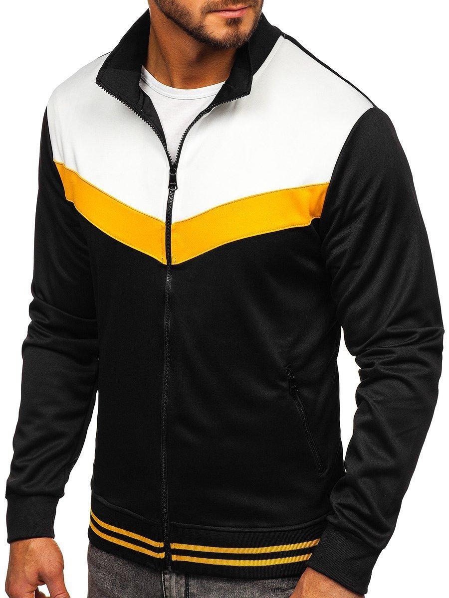 Bluza cu fermoar bărbați neagră Bolf 8995