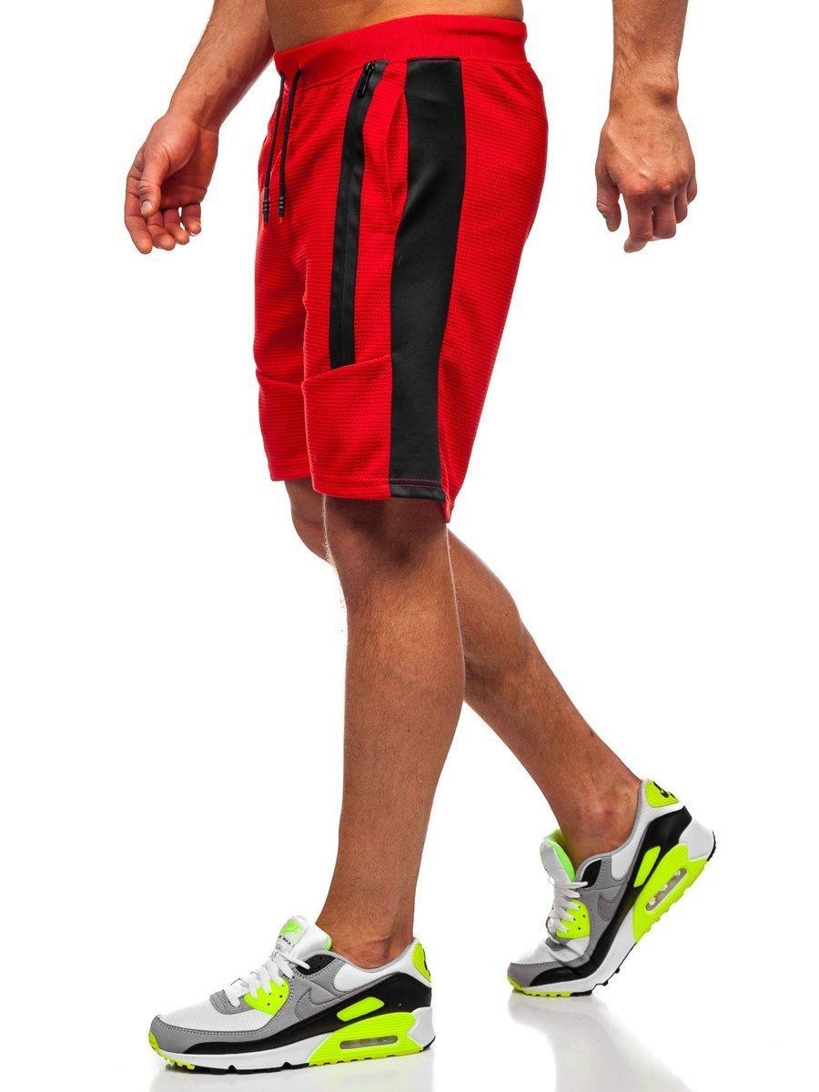 Pantaloni scurți de trening roșii bărbați Bolf KS2521