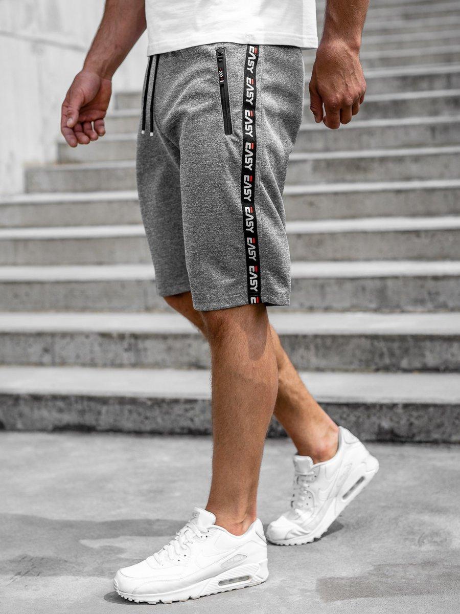 Pantaloni scurți gri bărbați Bolf JX381 imagine