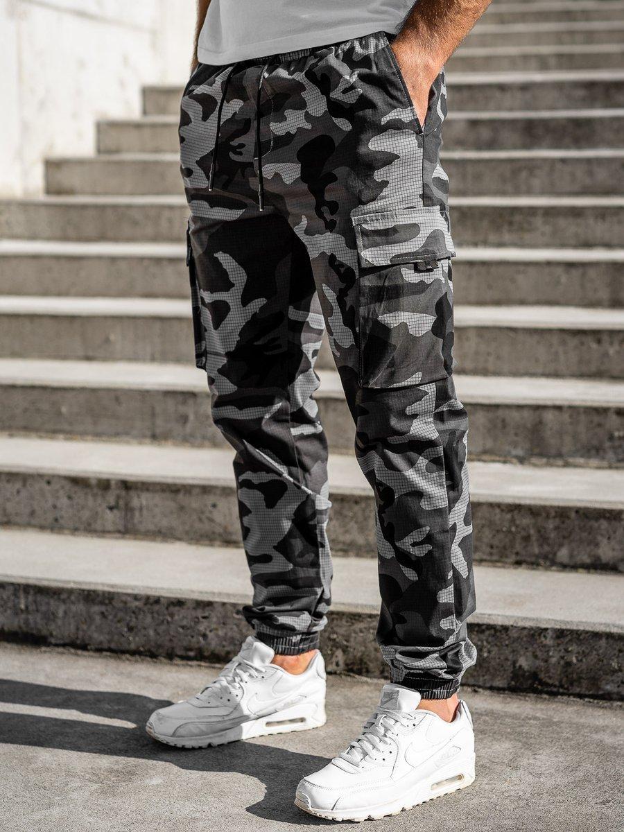 Pantaloni joggers cargo grafit Bolf 702 imagine