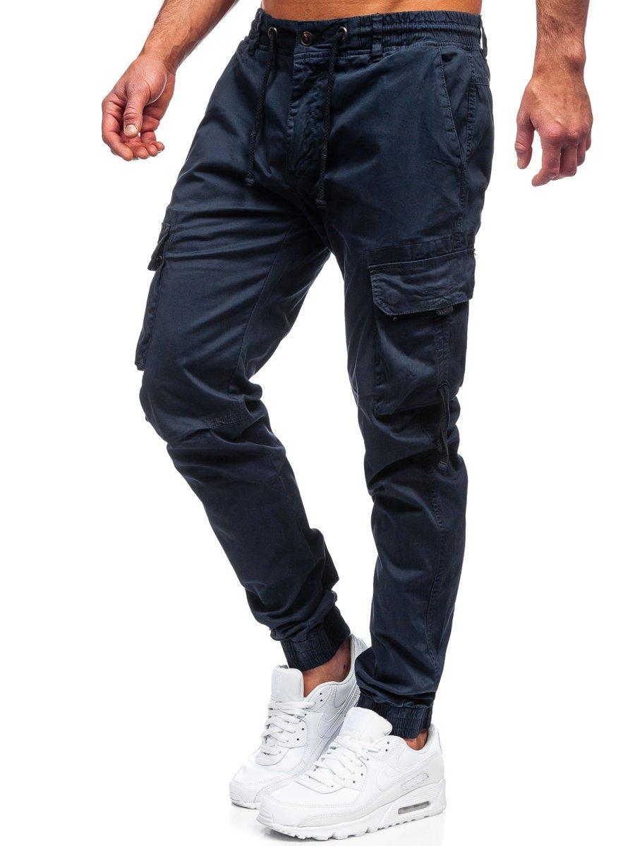 Pantaloni joggers cargo bleumarin Bolf 8956 imagine