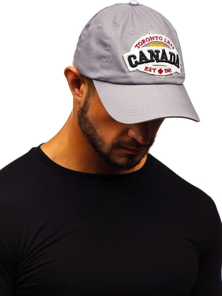 Șapcă cu cozoroc gri Bolf CZ8 imagine