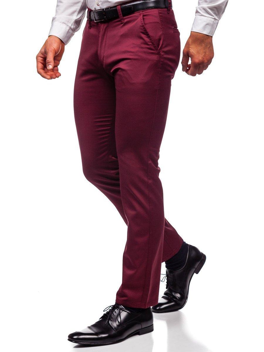 Pantaloni chinos bordo bărbați Bolf KA1786P