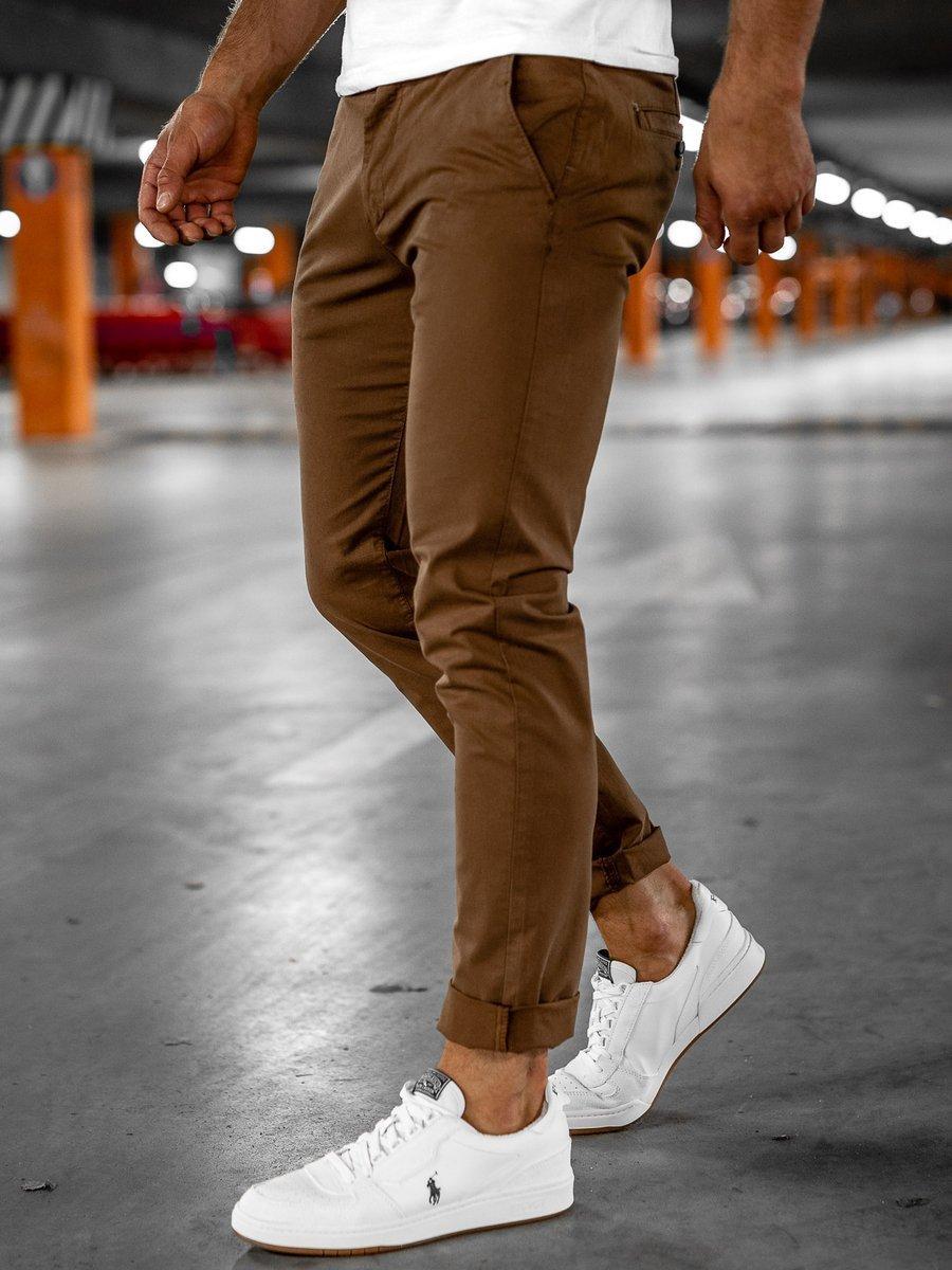 Pantaloni chinos maro bărbați Bolf 1146 imagine