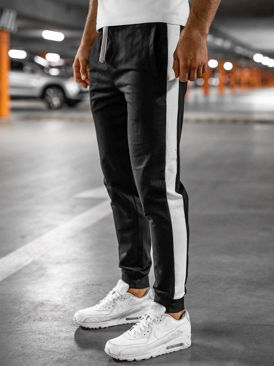Pantaloni de trening negri Bolf N1213