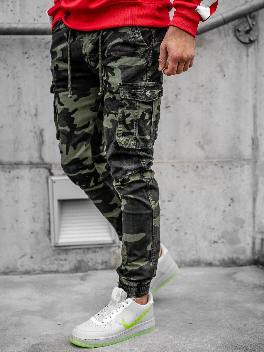 Pantaloni joggers cargo verzi Bolf CT6019