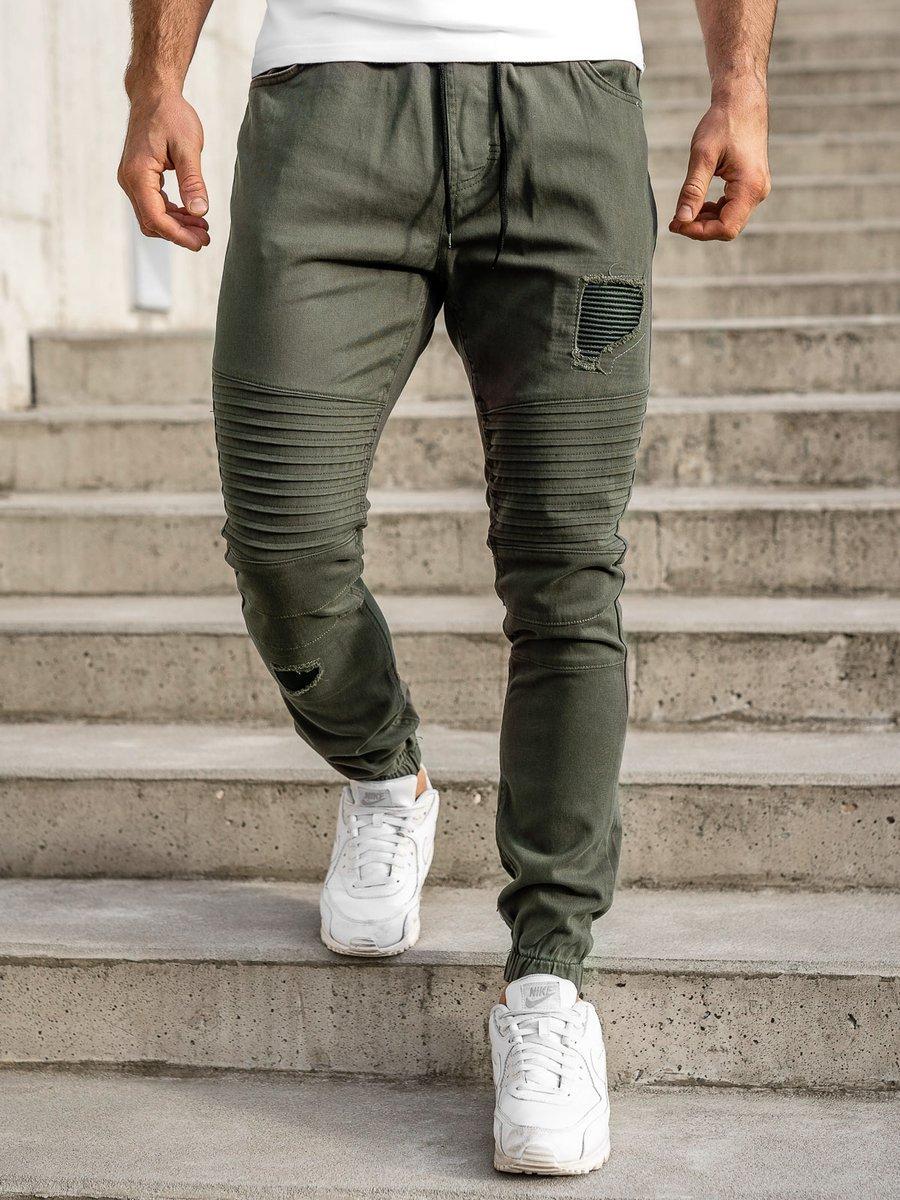 Pantaloni joggers kaki Bolf 0829 imagine