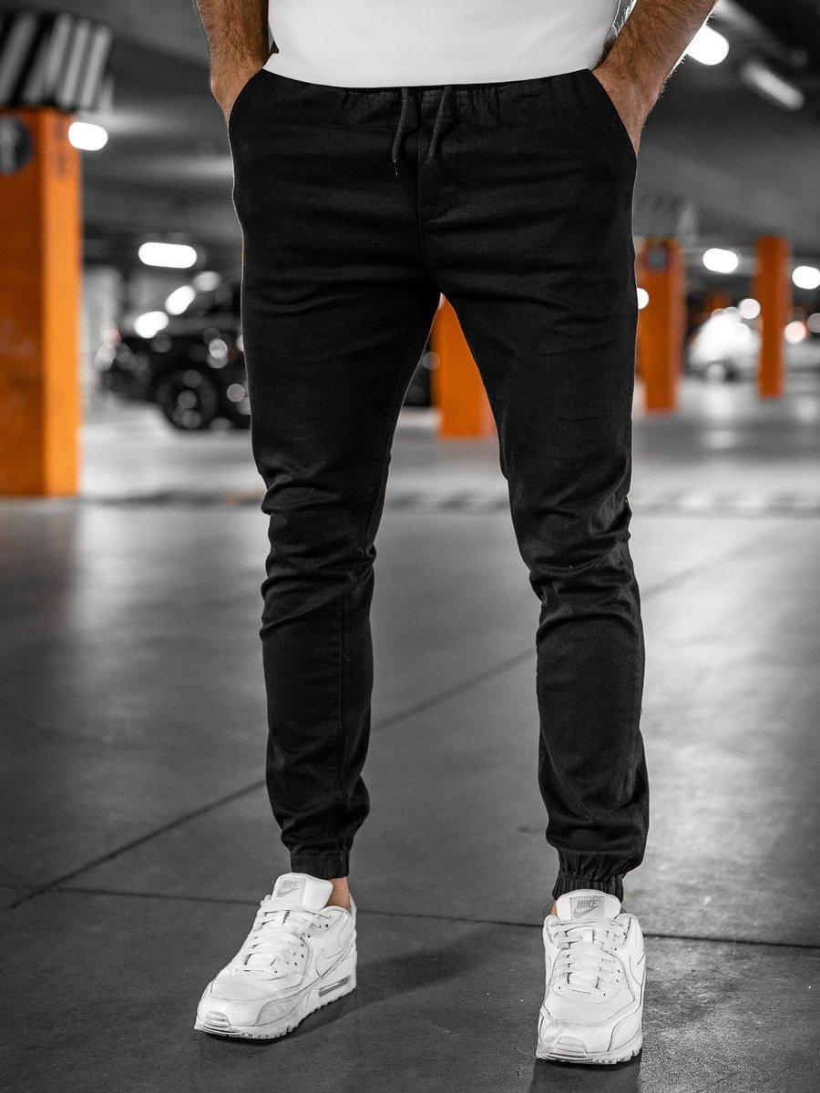 Pantaloni negri joggers Bolf 0905