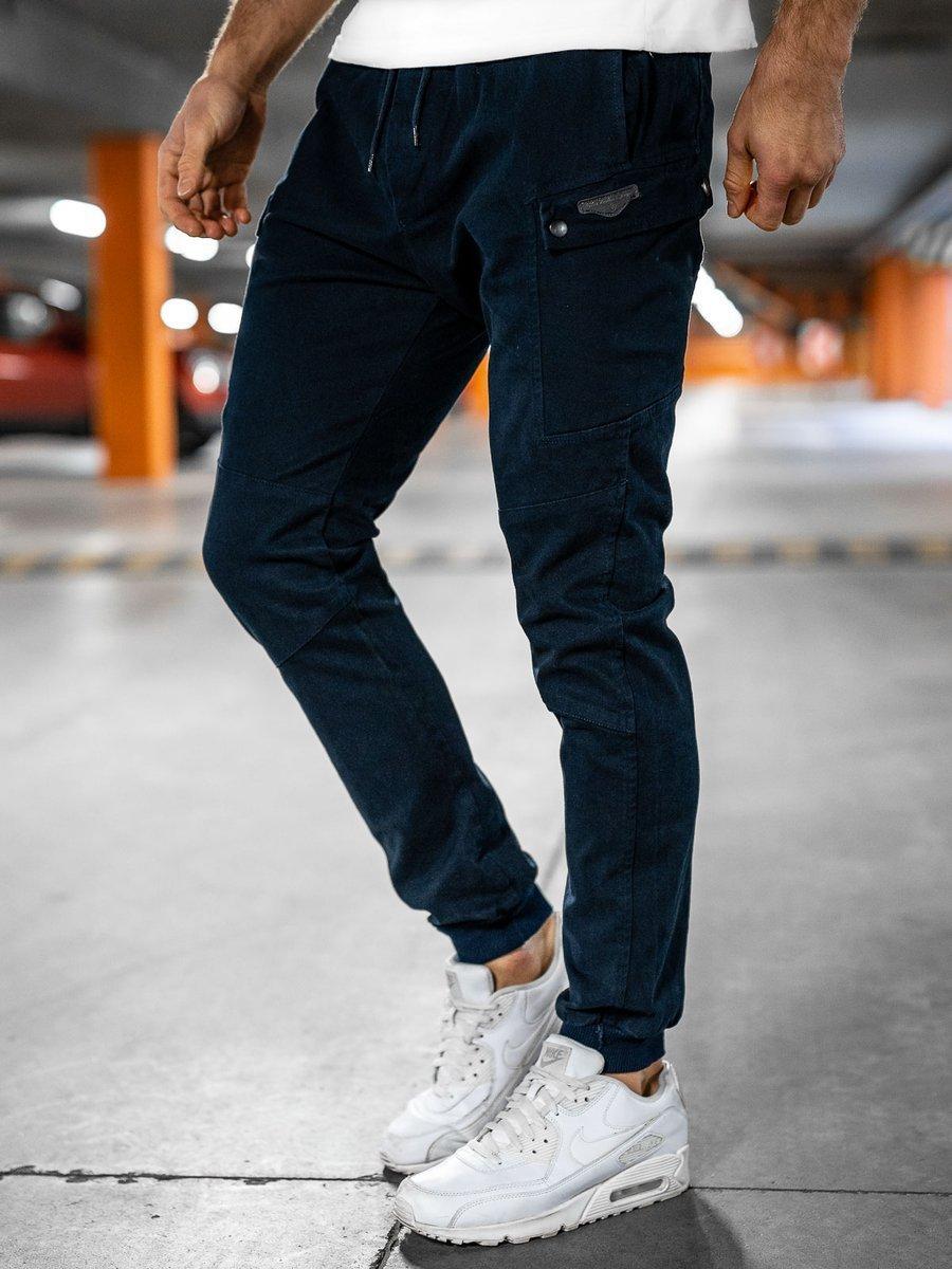 Pantaloni bleumarin joggers Bolf B11103