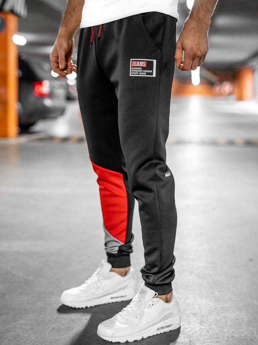 Pantaloni de trening negri Bolf K20003 imagine