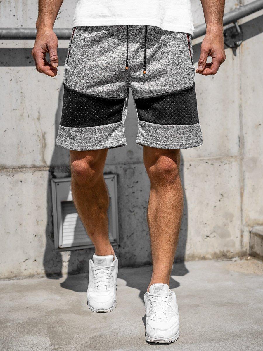 Pantaloni scurți trening bărbați gri Bolf KS2511 imagine