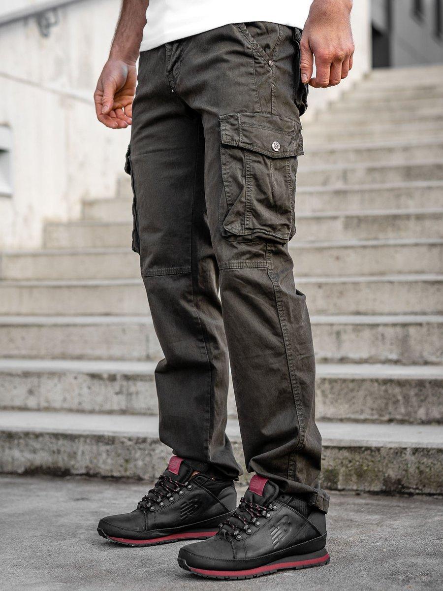 Pantaloni kaki cargo cu curea Bolf CT8902 imagine
