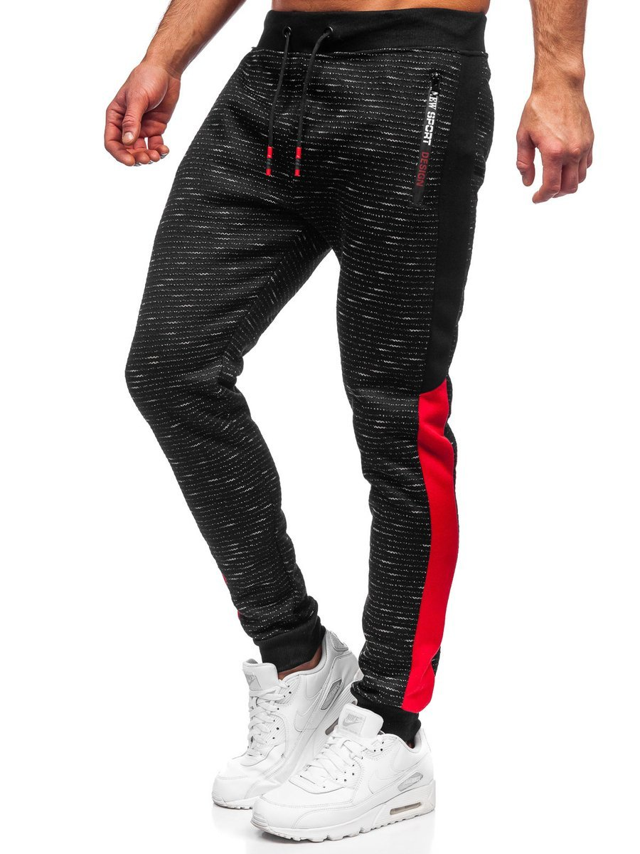 Pantaloni de trening negri Bolf K60009 imagine