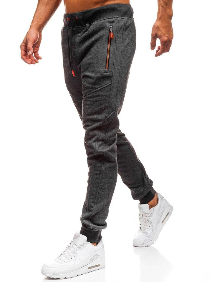 Pantaloni de trening bărbați negru Bolf TC879