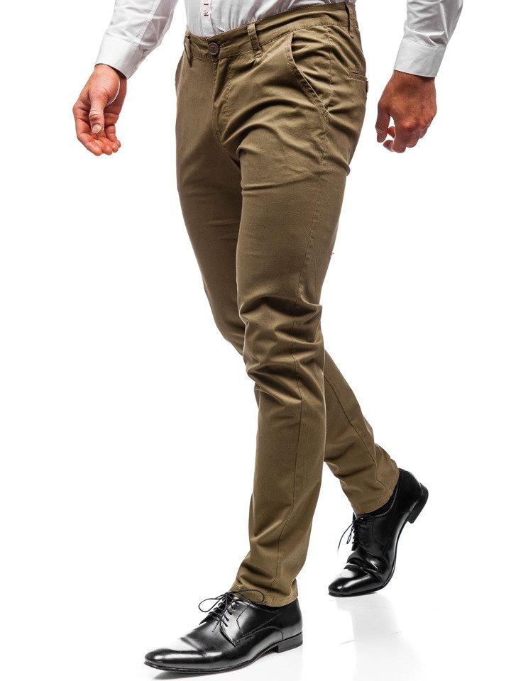 Pantaloni chino bărbați kaki Bolf 2901