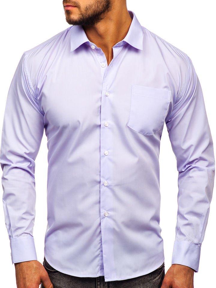 Cămașă elegantă bărbati violet-deschis Bolf 0003