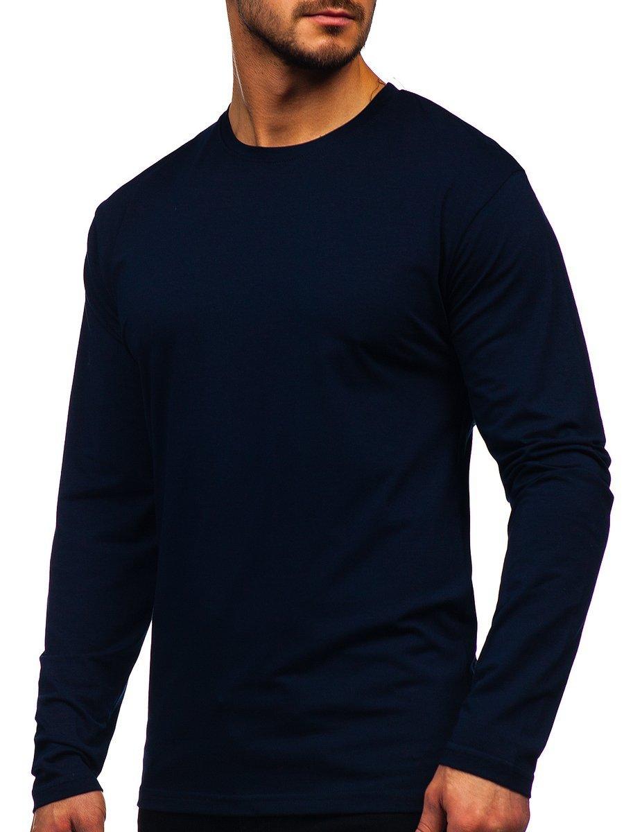 Long sleeve pentru bărbat fără imprimeu bluemarin Bolf 172007