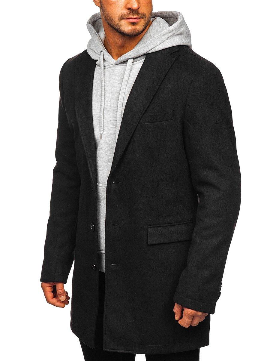 Palton de iarnă negru Bolf 1047C imagine