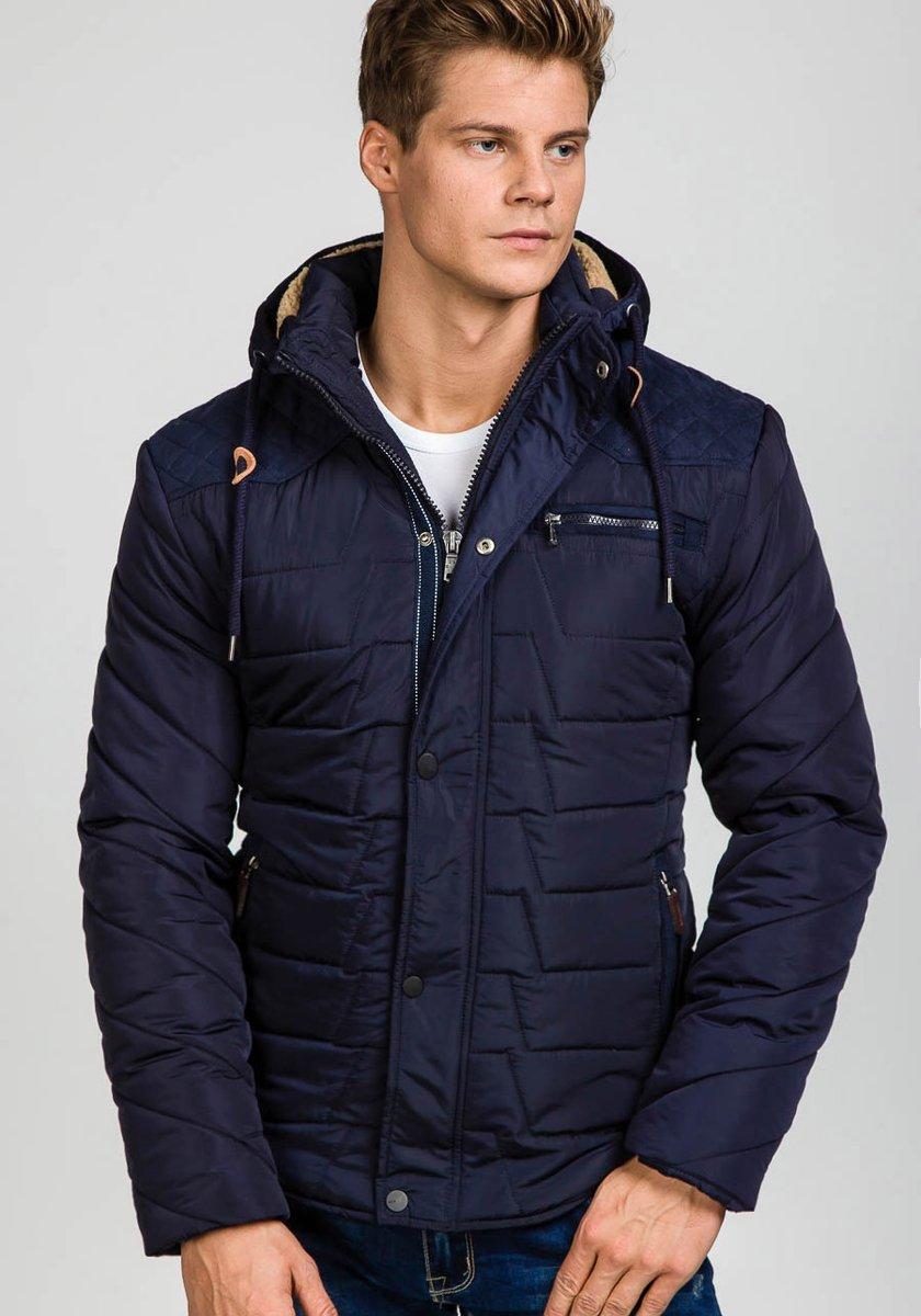 Geacă de iarnă bleumarin Bolf EX1673