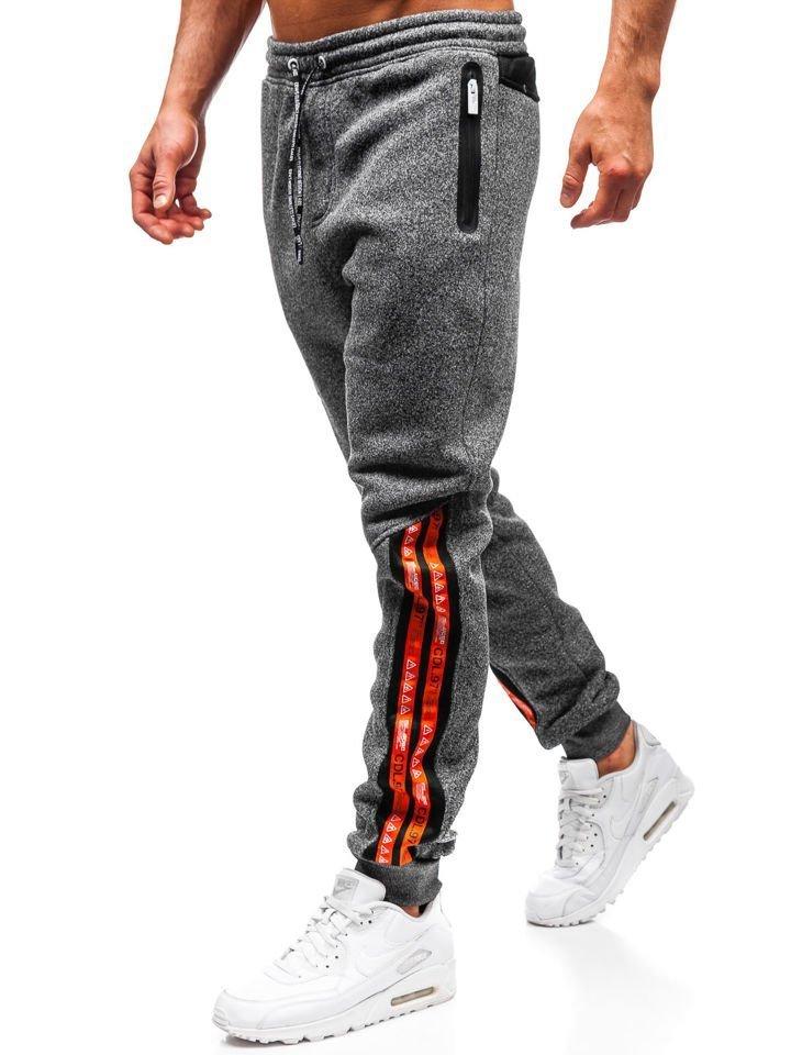 Pantaloni de trening bărbați grafit Bolf Q3869