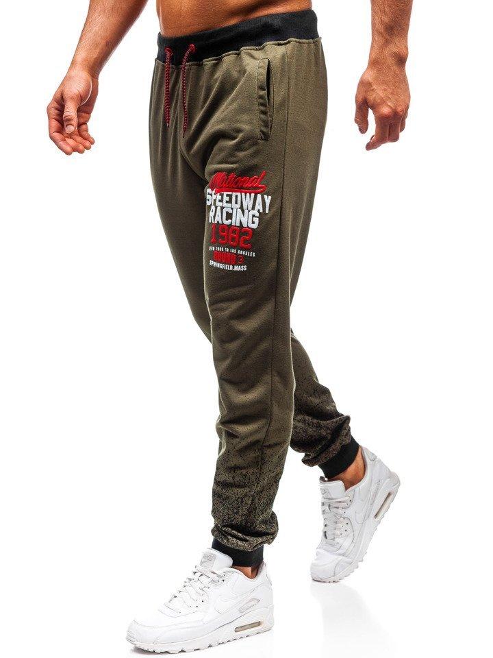 Pantaloni de trening bărbați kaki Bolf MK06