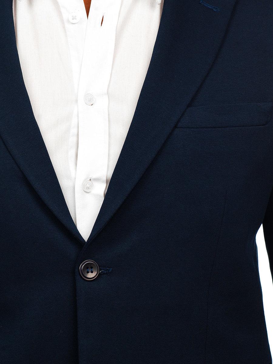 Sacou elegant bărbați bleumarin Bolf SR2003 imagine