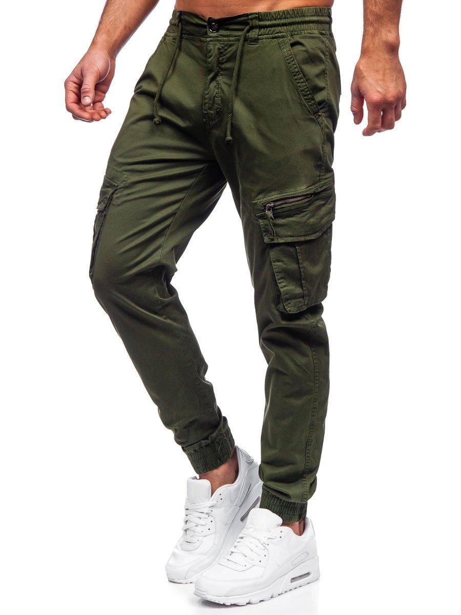 Pantaloni verzi joggers cargo Bolf CT6707S0 imagine