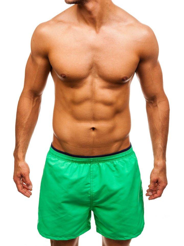 Pantaloni scurți de înot pentru bărbat verzi Bolf Y768
