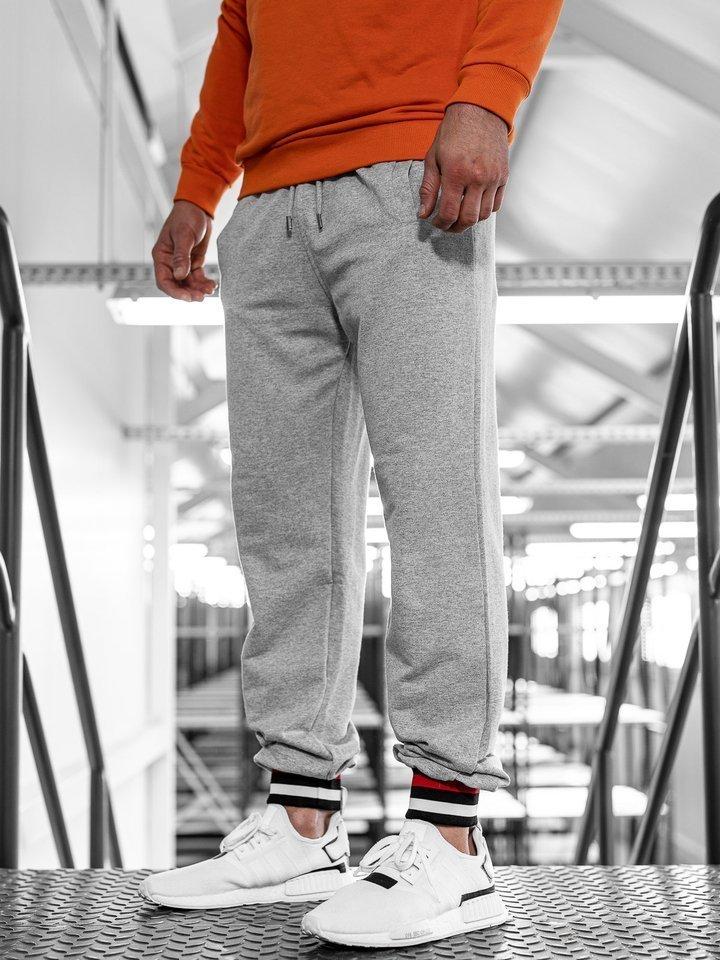 Pantaloni trening bărbați gri Bolf 145368 imagine