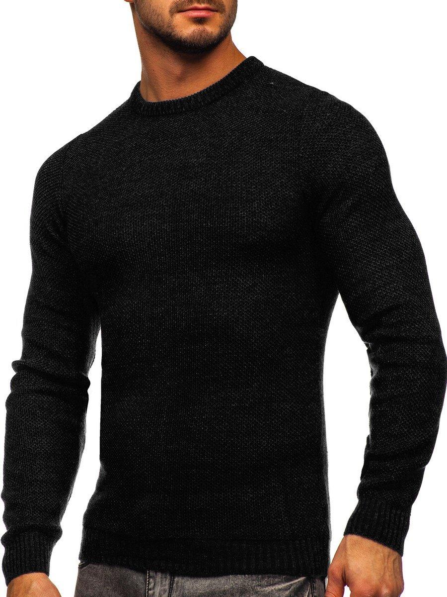 Pulover negru bărbați Bolf 4629 imagine
