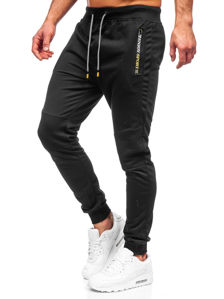 Pantaloni de trening negri Bolf K10216