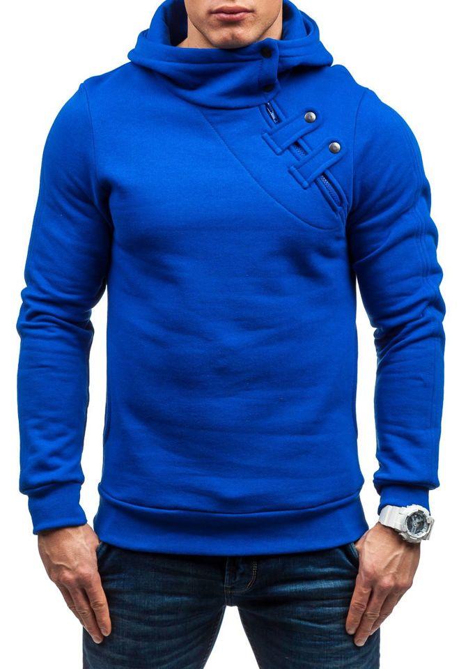 Hanorac bărbați albastru-cobalt Bolf MARIO