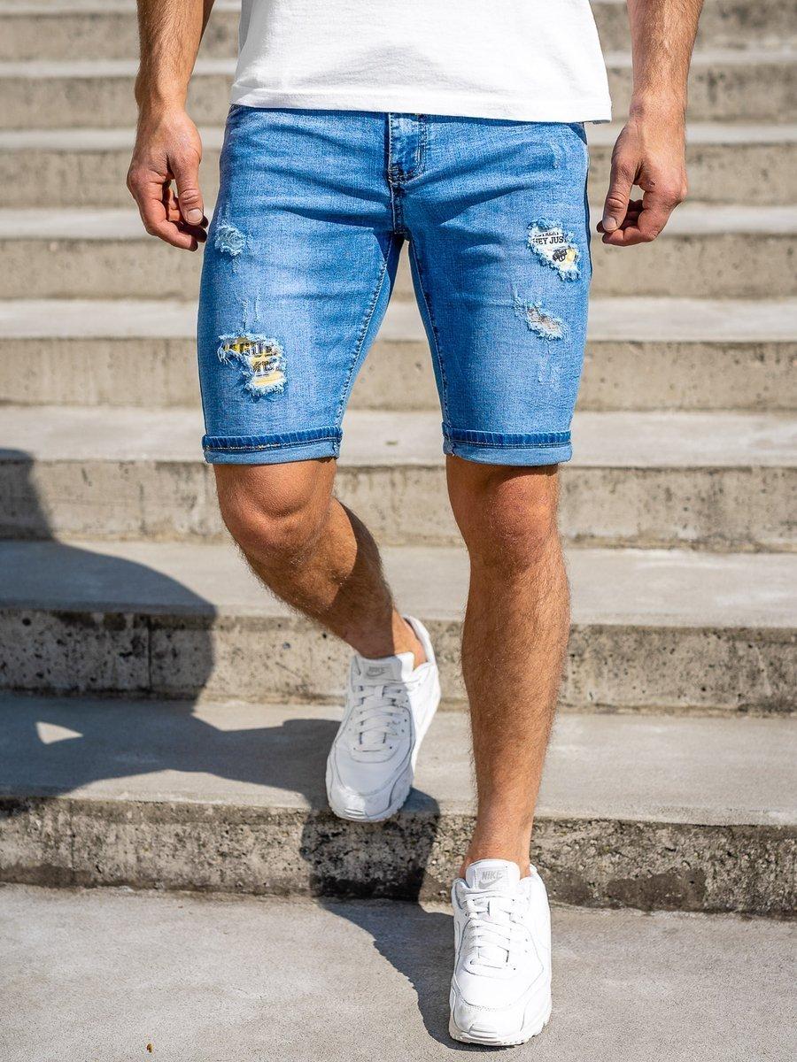 Pantaloni scurți de blugi bleumarin Bolf KG3802 imagine