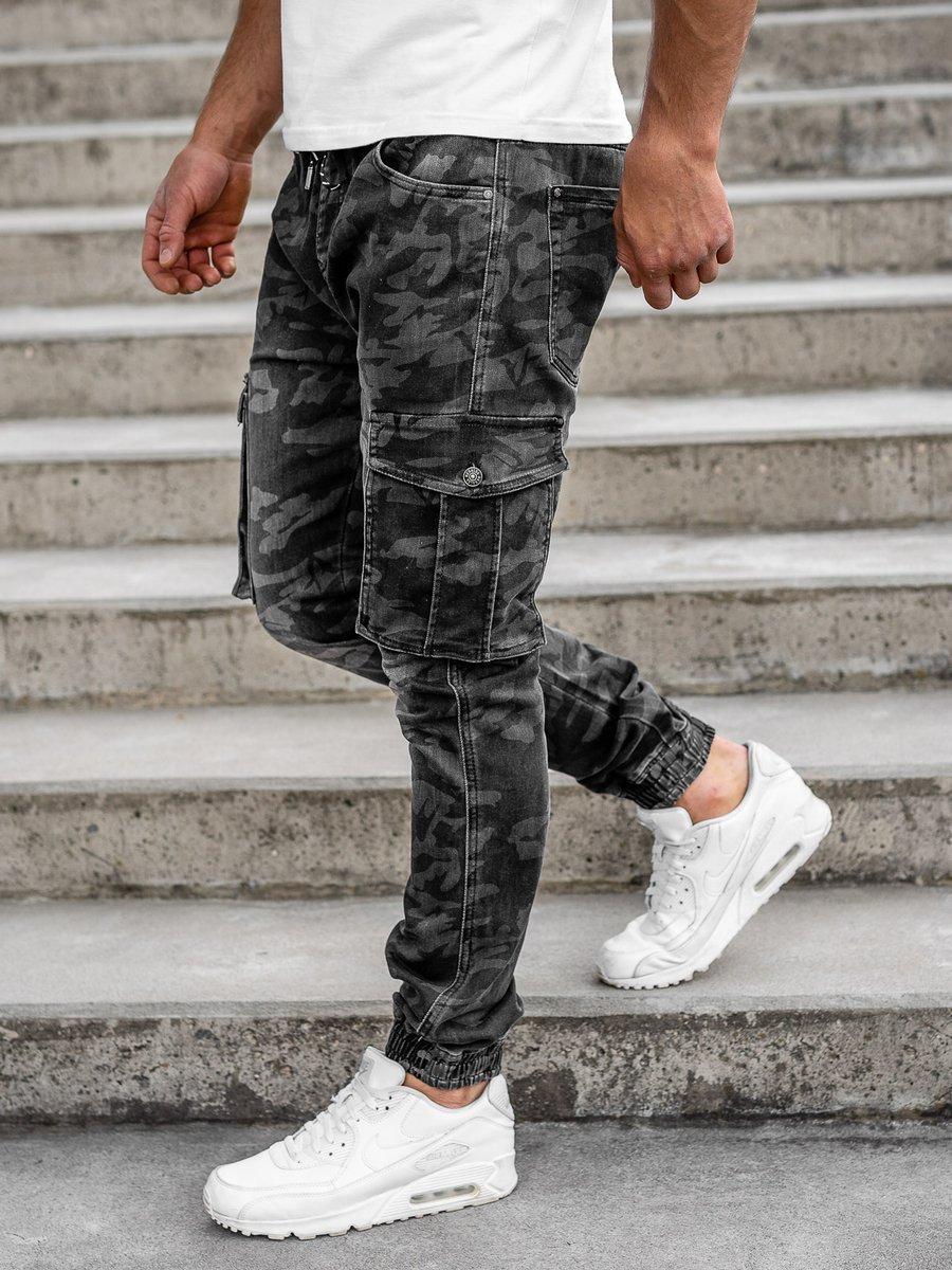 Pantaloni joggers negri military Bolf RB9491DT