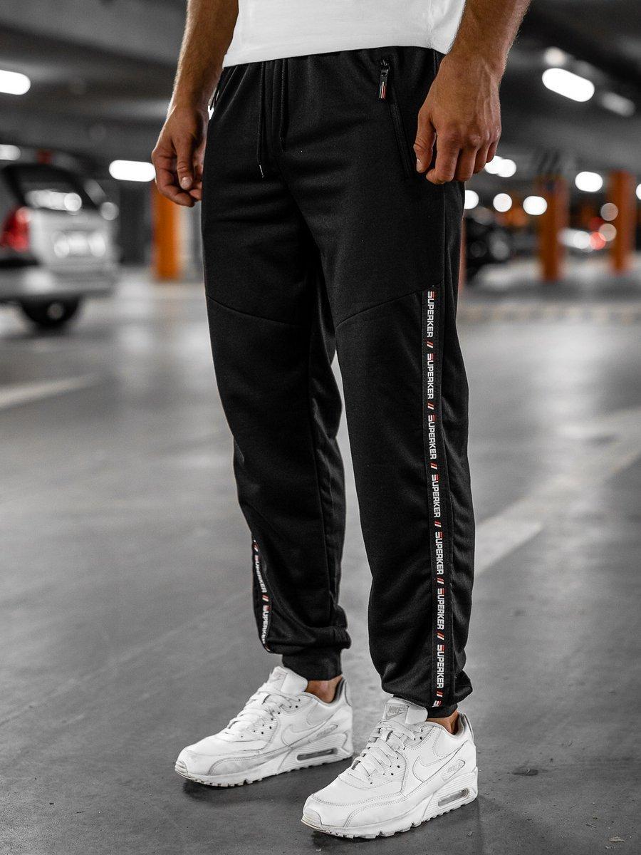 Pantaloni de trening negri Bolf JX1015 imagine