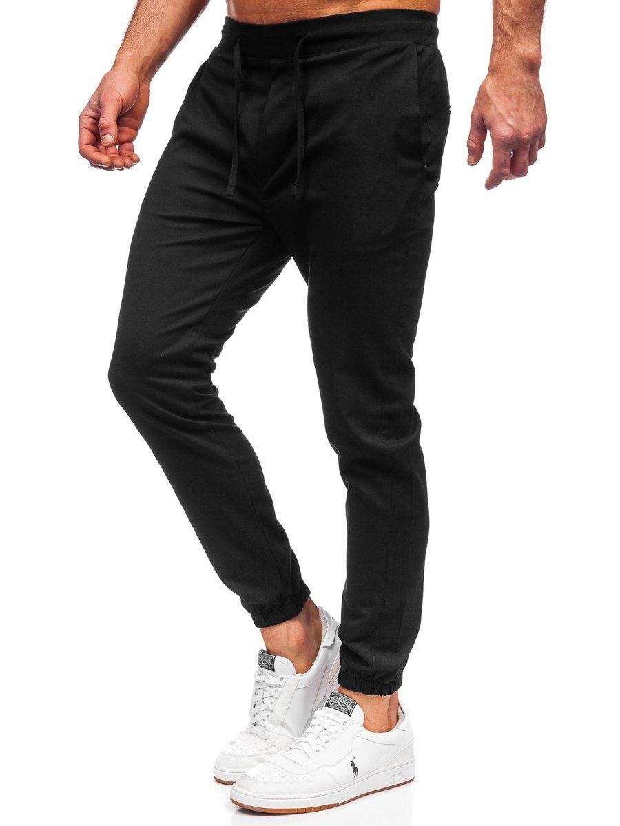 Pantaloni joggers negri Bolf 0011 imagine