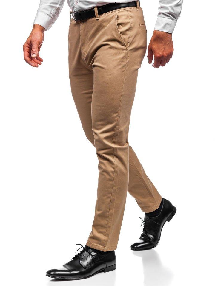 Pantaloni chino bărbați bej Bolf 1120