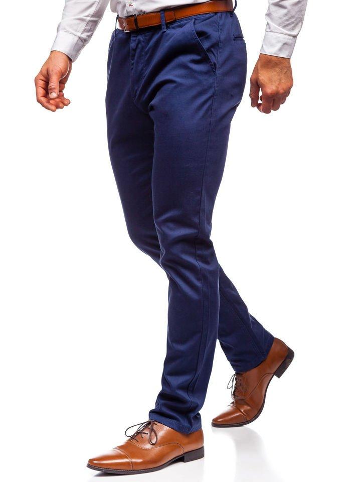 Pantaloni chino bărbați bleumarin Bolf KA968