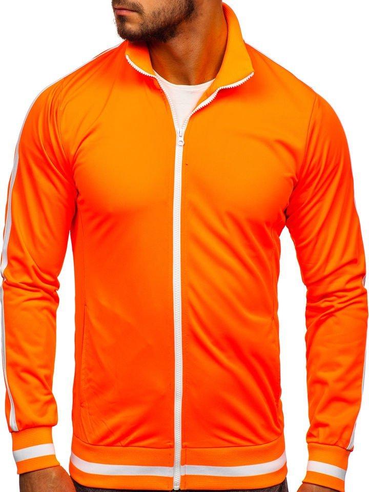 Bluză retro style cu fermoar bărbați portocaliu Bolf 2126