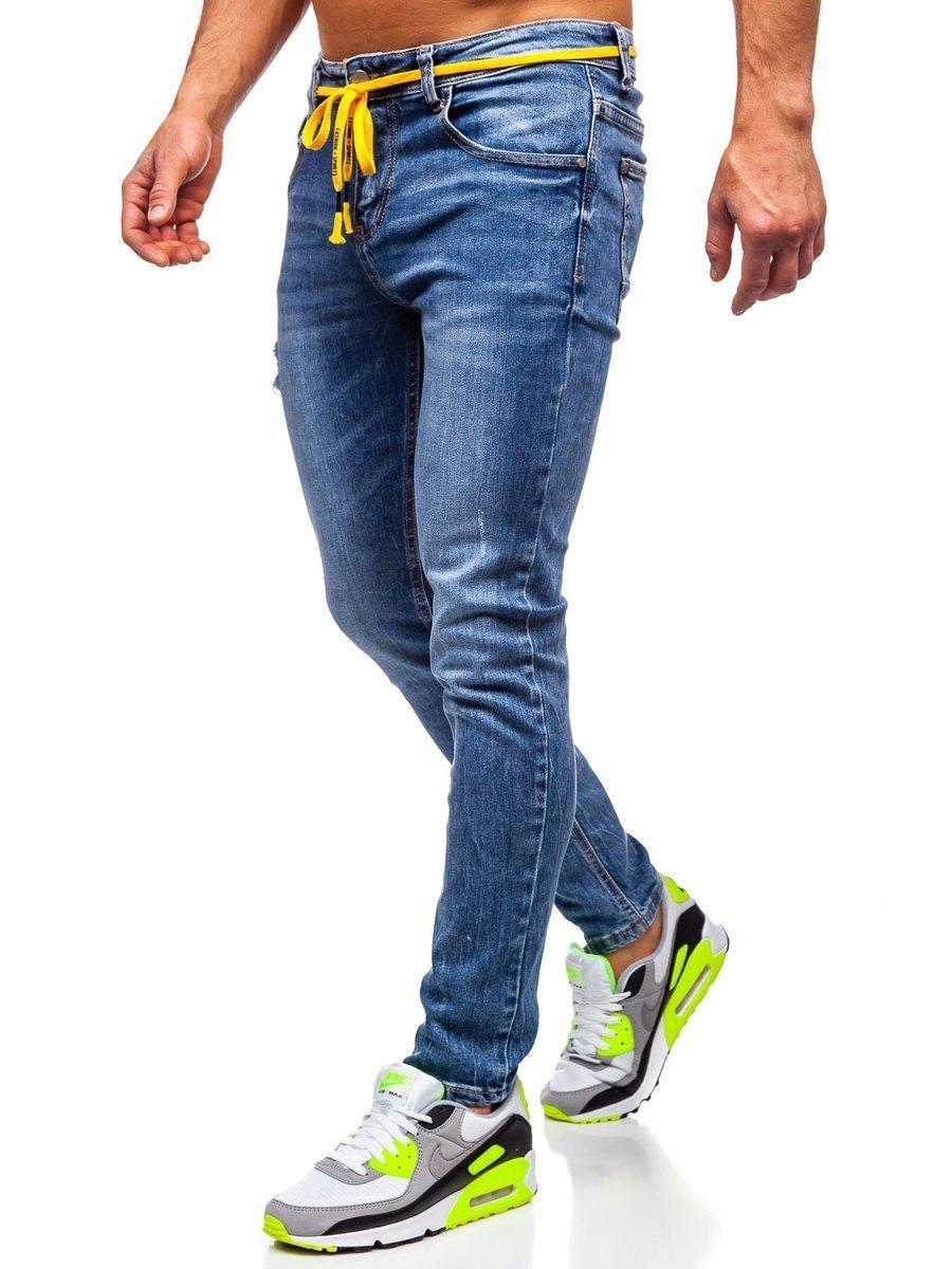 Blugi bleumarin bărbati skinny fit Bolf KX565