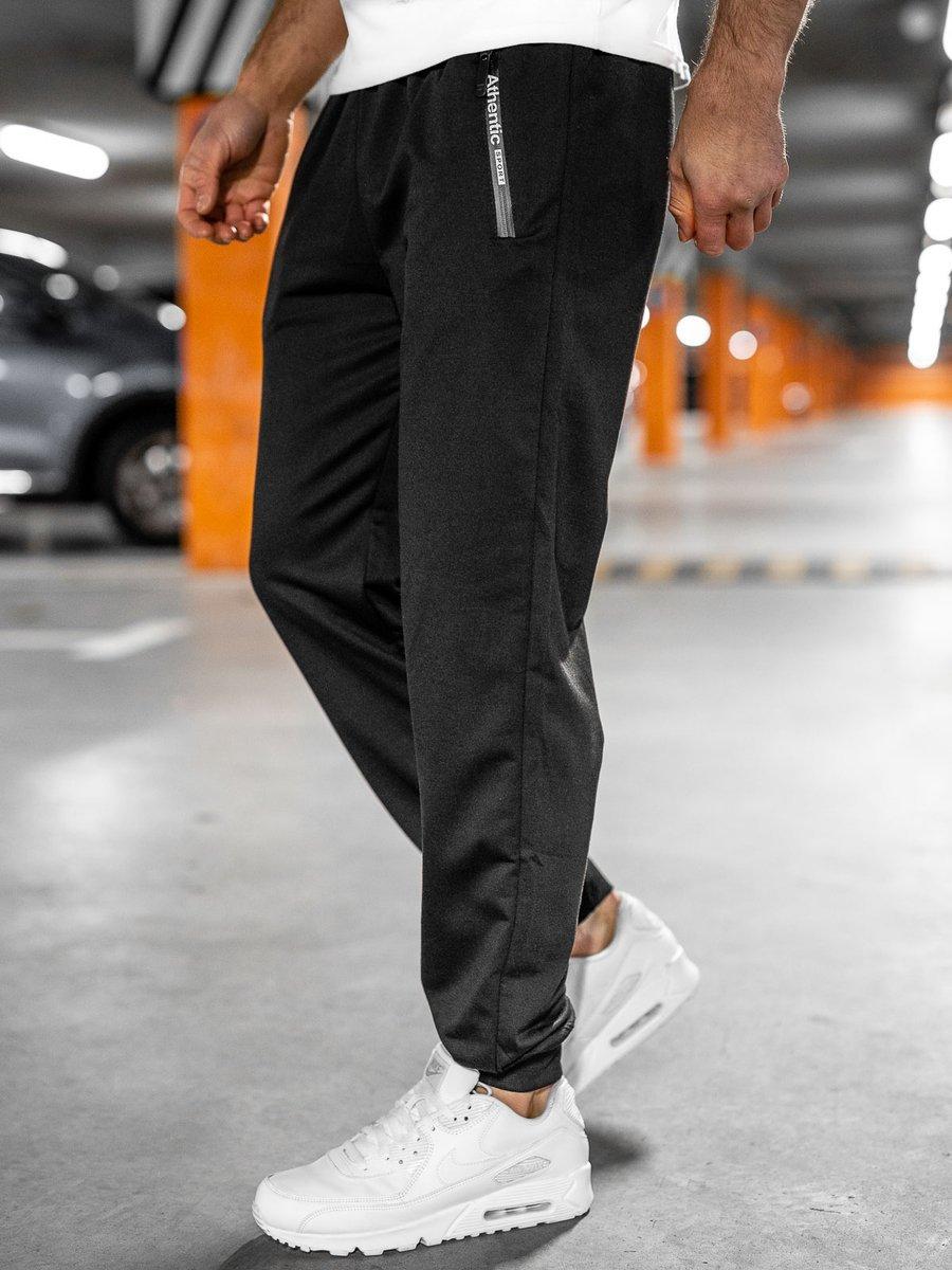 Pantaloni de trening negri Bolf JX1033 imagine