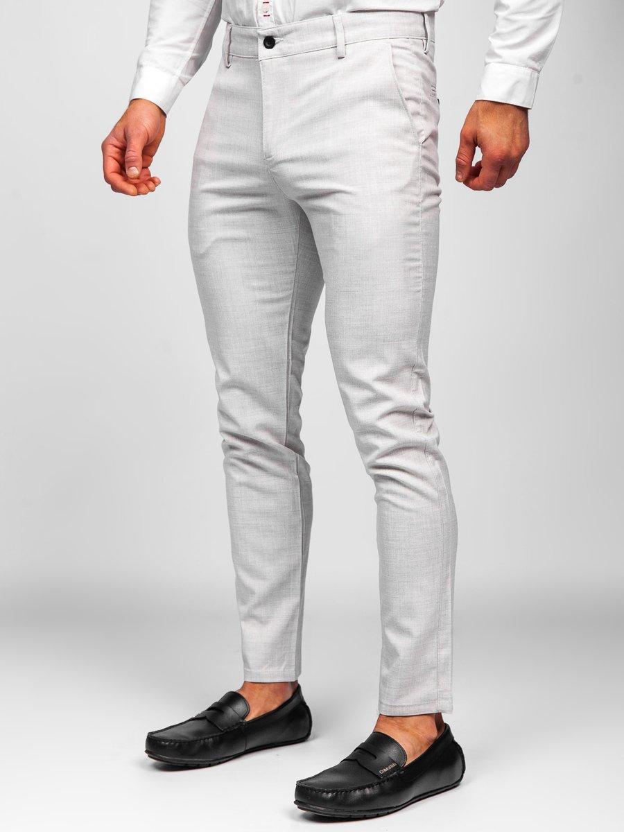 Pantaloni bej chinos Bolf 0015 imagine