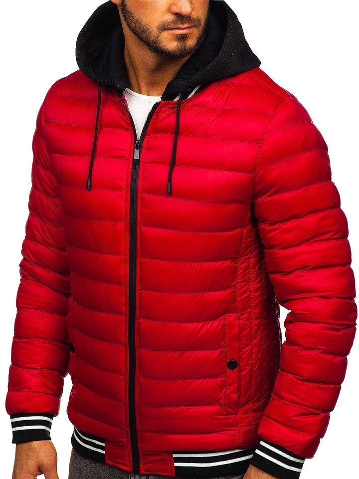 Geacă de iarnă roșie Bolf 5331 imagine