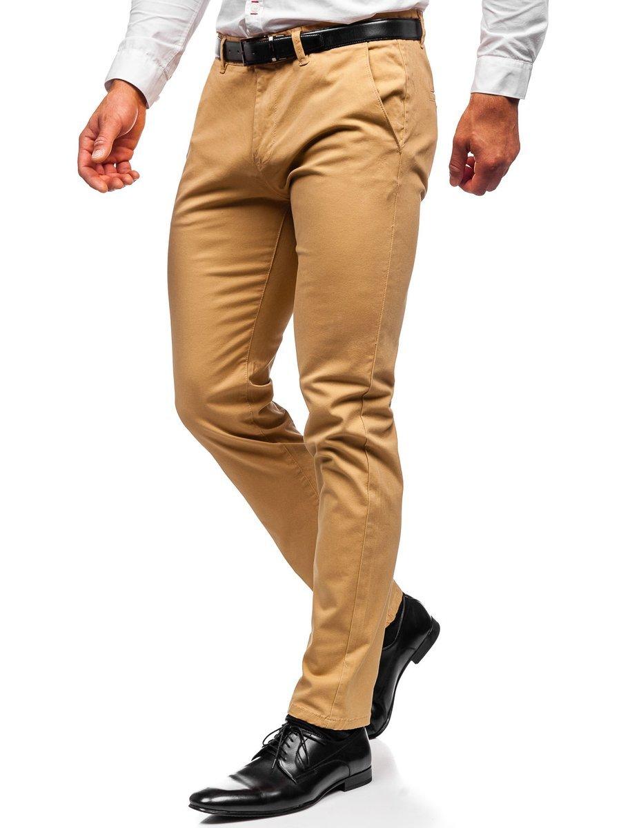 Pantaloni chinos bej bărbati Bolf 1143 imagine