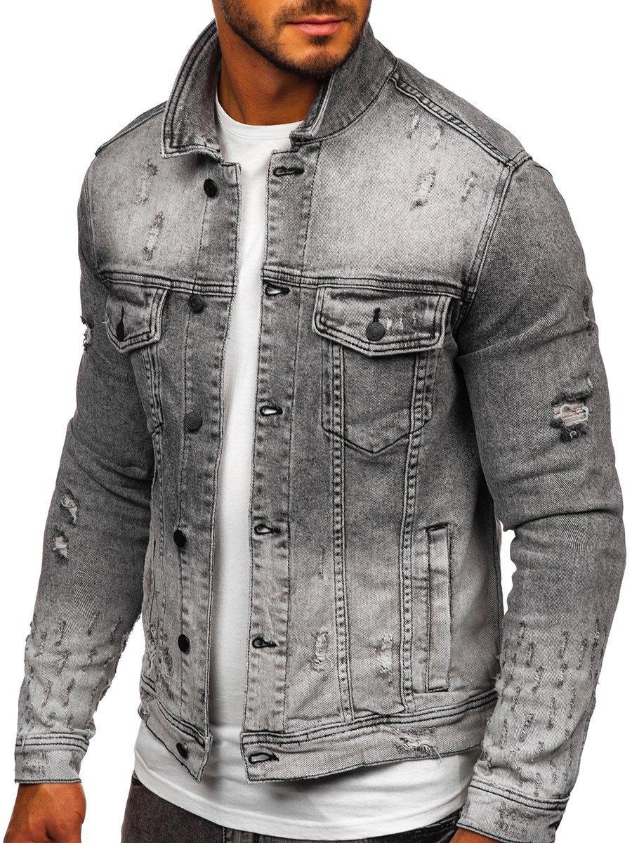 Geacă de blugi neagră bărbați Bolf 6616G imagine