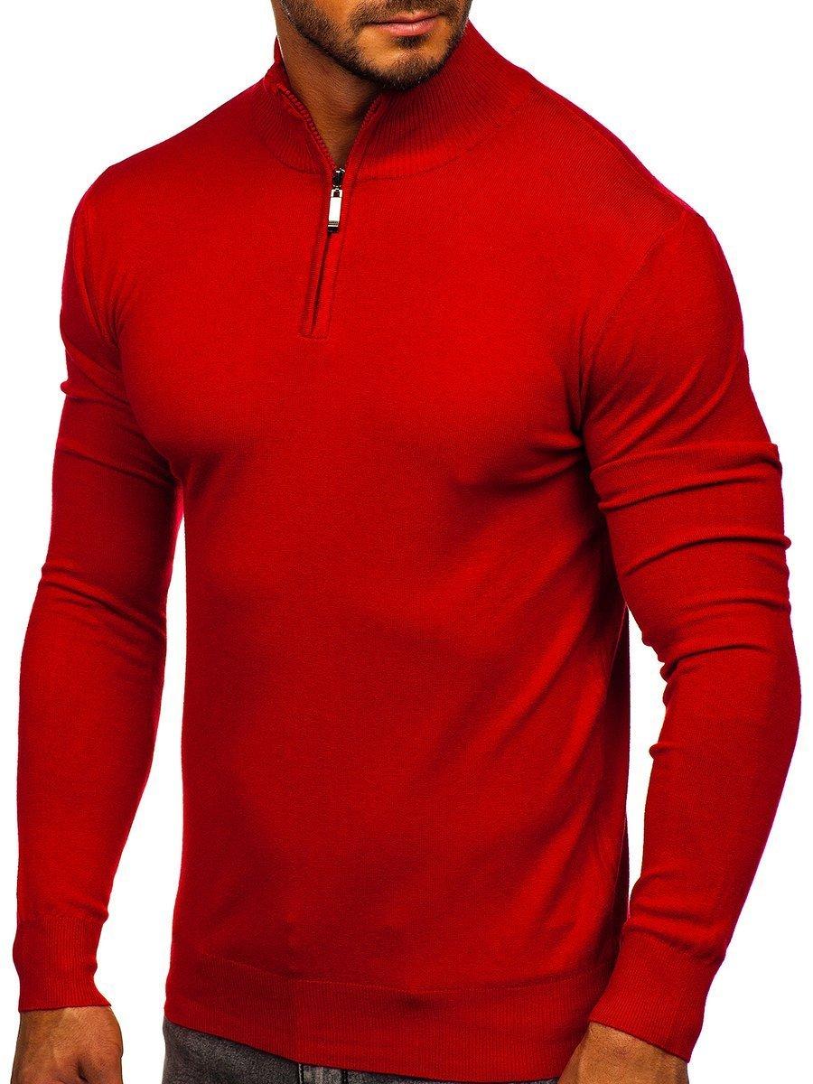 Pulover roșu bărbați Bolf YY08 imagine