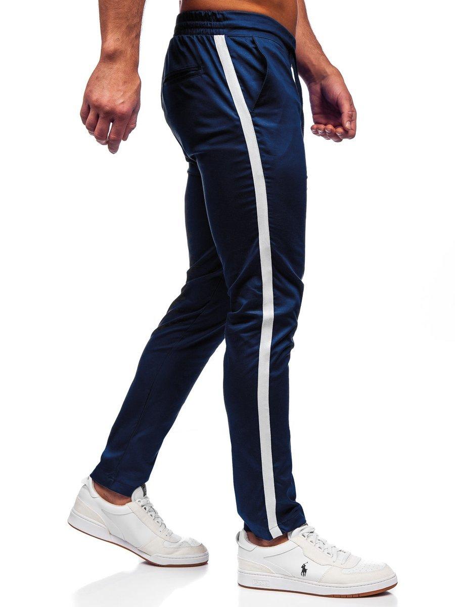 Pantaloni joggers bleumarin Bolf 0013 imagine