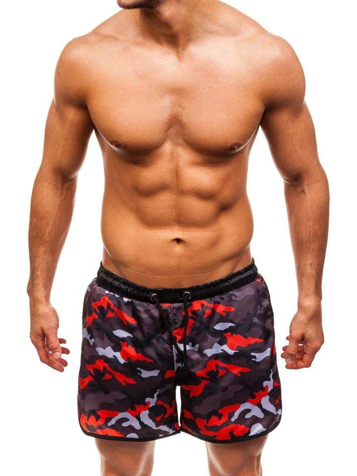 Pantaloni scurți de baie pentru bărbat multicolor Bolf 0732C imagine